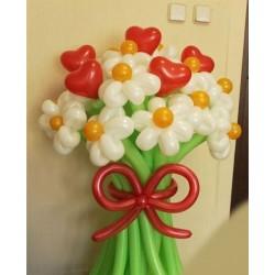 Букет ШДМ 11цветов + 5 сердец