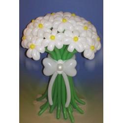 Букет ШДМ ромашки белые 17 цветов
