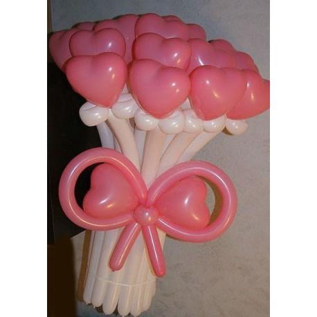 Букет из шариков сердечек как сделать