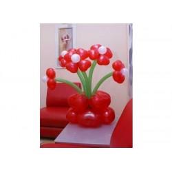 Корзина цветы сердечки 5шт