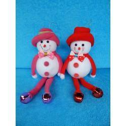 Снеговик висячие ножки-бубенчики