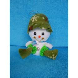 Снеговик сидит