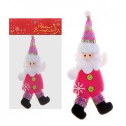 """Мягкая подвеска """"Дедушка Мороз"""" в розовом"""