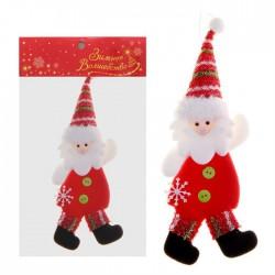 """Мягкая подвеска """"Дедушка Мороз"""" в красном"""