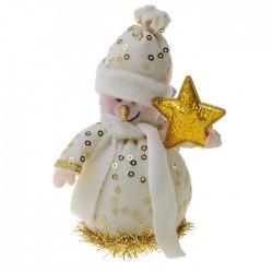 Снеговик со звездой (цвет золотой)