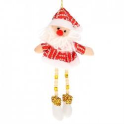"""Мягкая подвеска """"Дед Мороз"""" висячие ножки блеск"""