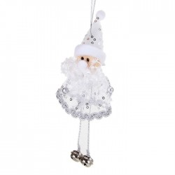 "Мягкая подвеска ""Дед Мороз"" висячие ножки бубенчики (цвет микс)"