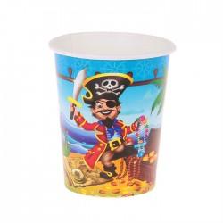 "Набор стаканов ""Храбрый пират"" 225мл 6шт."