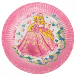 "Набор тарелок ""Принцесса"" 18см 6 шт."