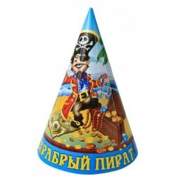 """Колпак малый """"Храбрый пират"""" (6шт.)"""
