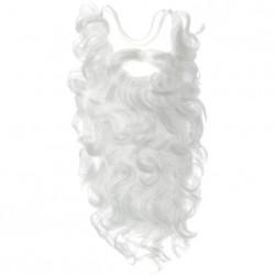 Борода Деда Мороза кудрявая 50см