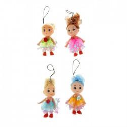 Подвеска куколка в платье с розочкой