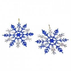 Снежинка пластик 12см (набор 2шт)