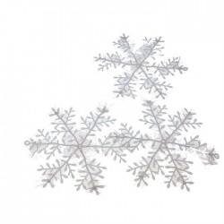 Снежинка 21см (набор 3шт)