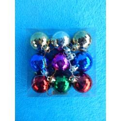 """Новогодние игрушки """"Шарики"""" цветные (набор 9шт)"""