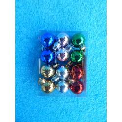 """Новогодние игрушки """"Шарики"""" цветные (набор 12шт)"""