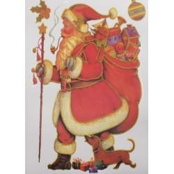 """Наклейка новогодняя """"Дед Мороз с подарками"""""""