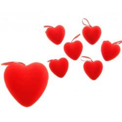 Подвеска сердце (бархат) d-6см 1шт.
