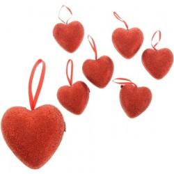 Подвеска сердце (блеск) d-6см 1шт.