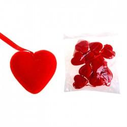 Подвеска сердце (бархат) d-3см 1шт.