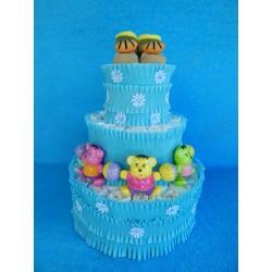 Торт из памперсов для мальчика (ПМ-002629)