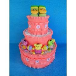 Торт из памперсов для девочки (ПМ-002630)