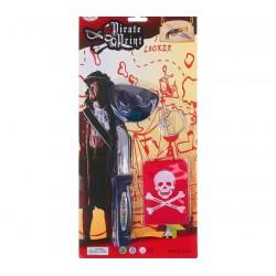 Набор пирата 4в1 наглазник, нож, клипса, бандана
