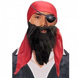 Набор пирата 3в1 (бандана, наглазник, борода)