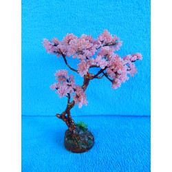 Дерево из бисера (розовое) 23см