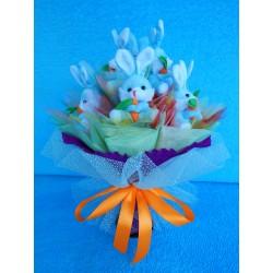 Букет из игрушек на подставке (ПМ-0026149)