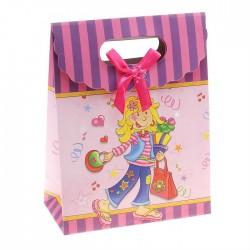 "Коробочка-пакет ""Девочка с сумкой"" 24*32*12,5"