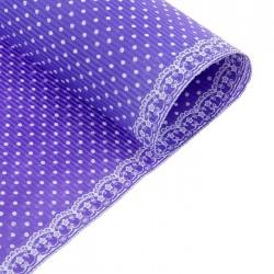 Бумага гофрированная 50*70см горошек на фиолетовом (1 лист)