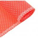 Бумага гофрированная 50*70см  горошек на красном (1 лист)