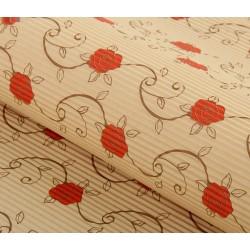 Бумага гофрированная 50*70см в цветочек (1 лист)