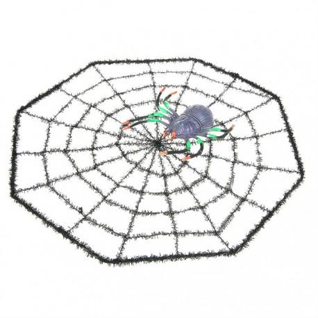 Паутина с цветным пауком (40*40)