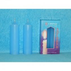 Набор свечей (2шт.) премиум (голубой)
