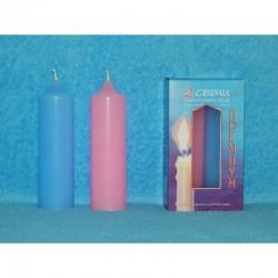 Набор свечей (2шт.) премиум (розово-голубой)