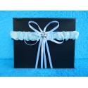 Свадебная подвязка простая (белая)