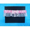 Свадебная подвязка простая с юбочкой (розовая)
