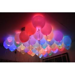 Геливые шары светящиеся 4D (10шт) +пульт
