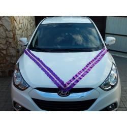 Лента авто рюшь 10см атлас (фиолетовая)