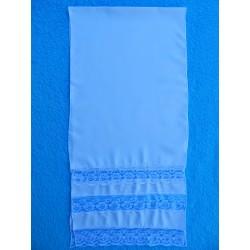 Рушник с кружевом (150х35) голубой