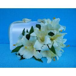 """Коробка для денег """"С цветами"""" (лилии) белая"""