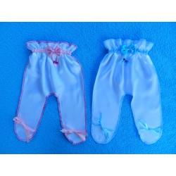 """Ползунки для денег """"На мальчика или девочку.."""" (атлас) бело-розовые + бело-голубые"""