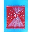 """Коробка для денег """"С цветочками"""" красная"""