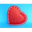 "Коробка для денег ""Сердце красное"" розочки с рюшкой"