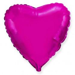 Сердце 9/23см (пурпурное)