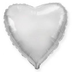 Сердце 18/45см (серебро)