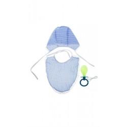 Комплект для младенца гигант (голубой)