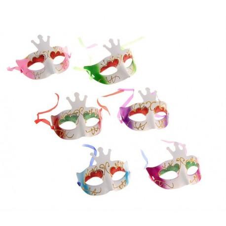 Полумаска декоративная с короной  (пластик)